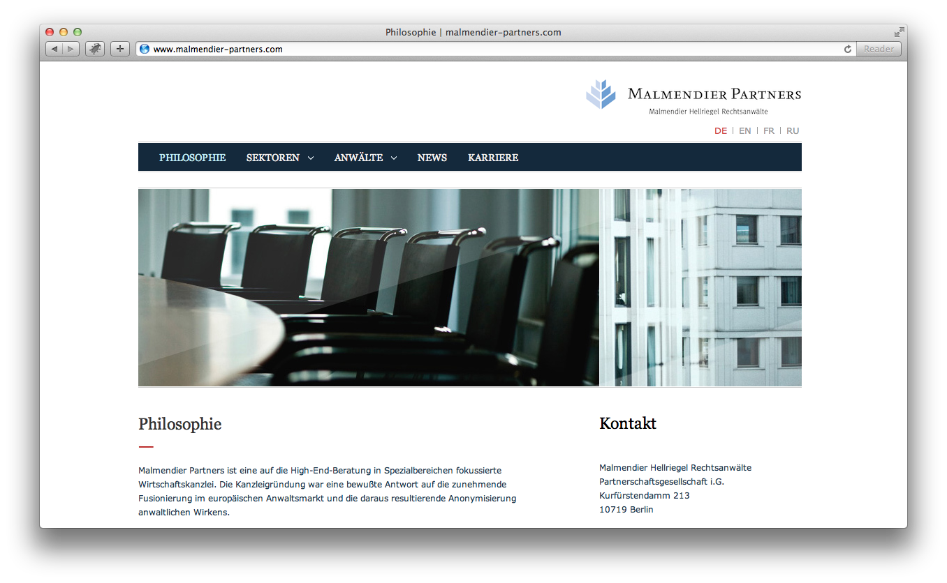 Screenshot Malmendier Partners