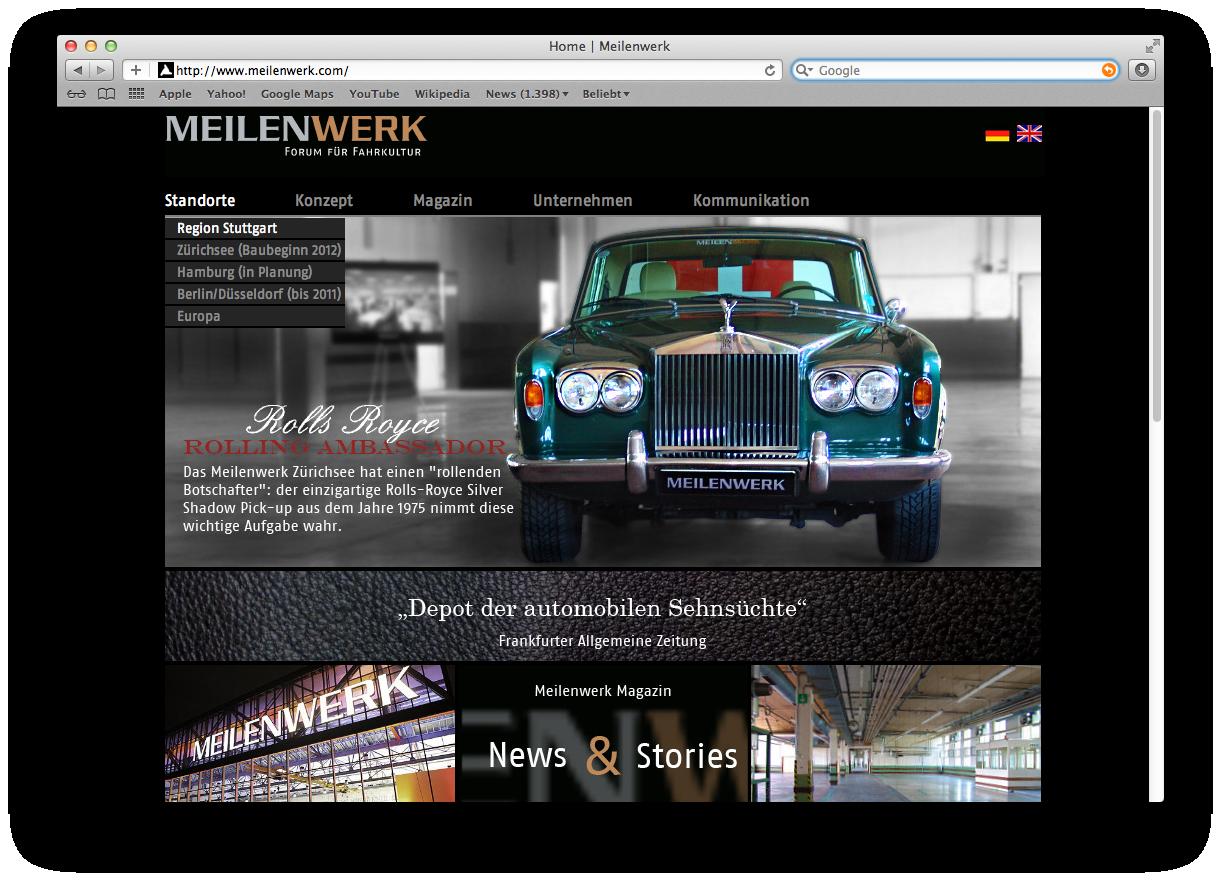 Meilenwerk Webseite Screen